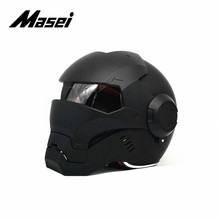 Masei IRONMAN helmet motorcycle helmet half helmet open face helmet casque motocross car accessories sticker casco moto black masei 610 top abs moto biker helmet ktm iron man personality special fashion half open face motocross helmet matt black
