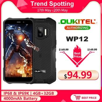 OUKITEL WP12 IP68 Waterproof Android 11 Rugged Smartphone 5.5'' HD+ Display 4GB+32GB Helio A22 NFC 4000mAh Mobile Phone 1