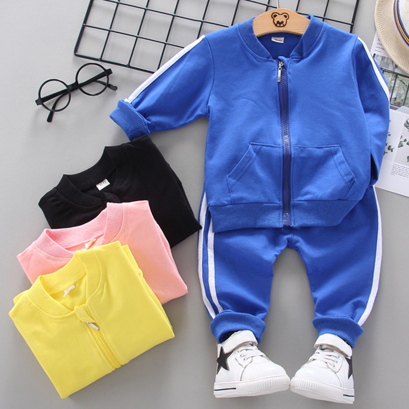 New 1-5yrs Boys&Girls Sets Spring Autumn Baby Kids Sets Cotton Sport Boy Tracksuits Kids Suits Long Sleeve T Shirt+Pants
