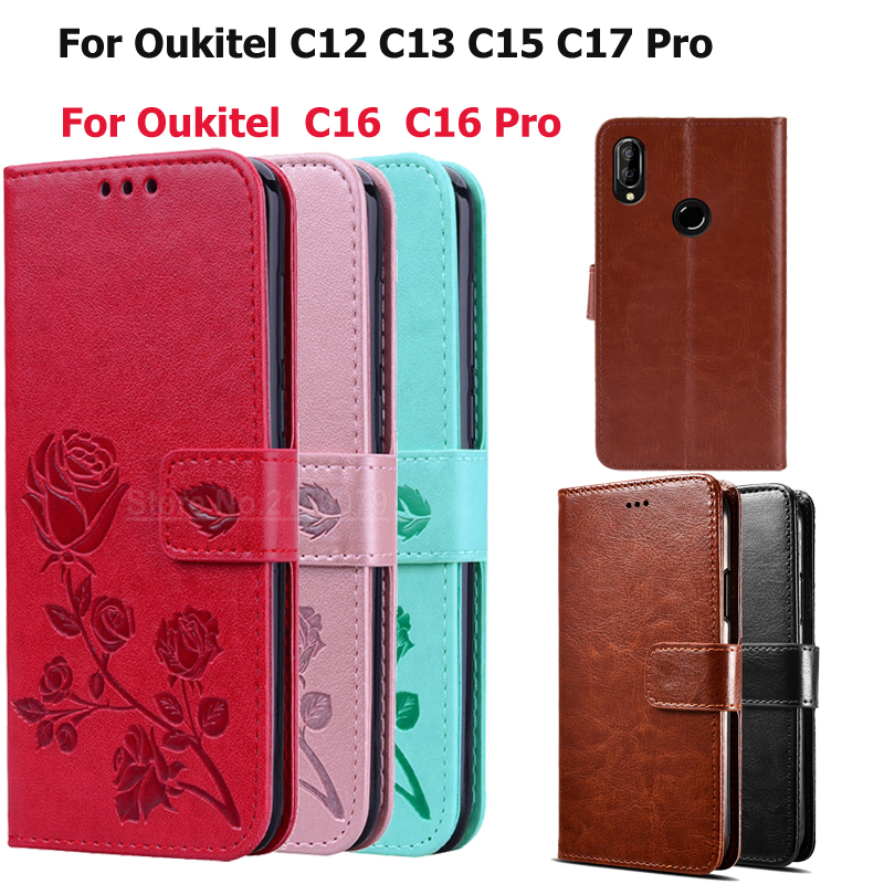 Phone Case For <font><b>Oukitel</b></font> C12 C16 Case For <font><b>Oukitel</b></font> C12 <font><b>Pro</b></font> C13 <font><b>C15</b></font> <font><b>Pro</b></font> C16 <font><b>Pro</b></font> C17 <font><b>Pro</b></font> Coque Funda PU Leather Wallet <font><b>Cover</b></font> Capas image