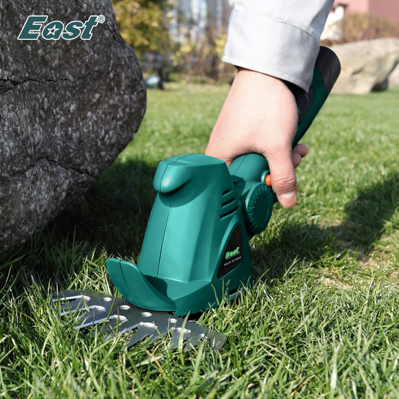Aletler'ten Budama Aletleri'de Doğu bahçe güç aracı 10.8V Li Ion akülü çim kesme budama araçları olmadan kolu Mini çim biçme makinesi kazıyıcı fabrika ET1007B title=