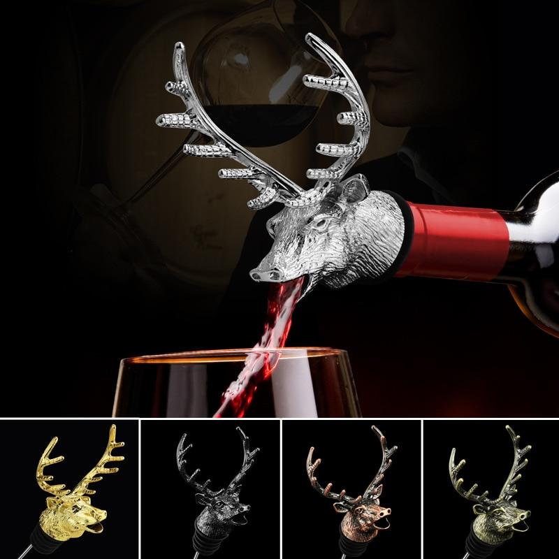Red Wine Pourer Deer Head Figure Model Wine Mouth Pourer Jagermeister Decanter Pourer