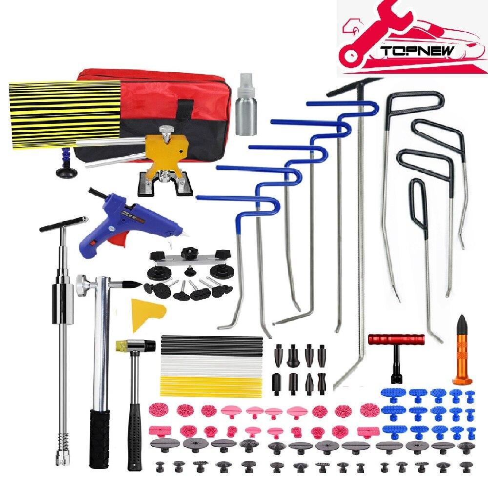 Kit de ferramentas pdr ganchos primavera aço push rods dent remoção do carro dent e reparação de parede kit de reparação do corpo do carro paintless dent repair tool