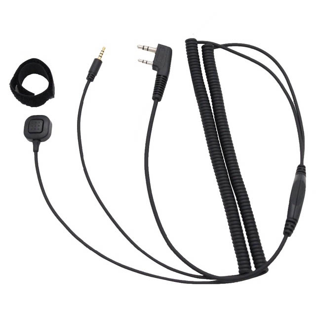 V3 <font><b>V6</b></font> V8 V1098a V5s <font><b>Bluetooth</b></font> Helmet Headset Special Connecting Cable for Kenwood Baofeng UV-5R UV-82 GT-3 Two Way Radio image