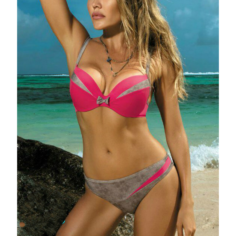 2020 Swimwear Women <font><b>Bikinis</b></font> <font><b>Set</b></font> <font><b>Sexy</b></font> <font><b>Bikini</b></font> Swimsuit Push Up Low Waist Biquini Feminino Bathing Suit Female Big Chest Beachwear image