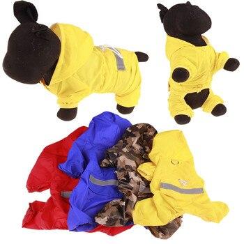 Chubasquero con capucha para perros y cachorros, impermeable, reflectante, para exteriores, con...
