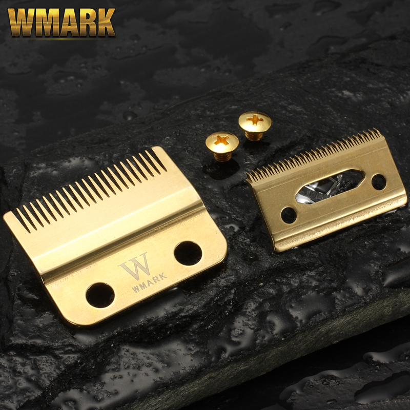 WMARK W-2 Professional 2-Hole  Stagger-teeth Clipper Blade Movable Blade With Screw Replacement Blade High Quanlity Material