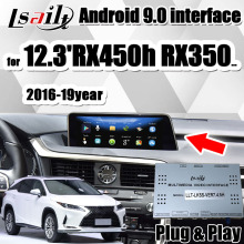 4GB PX6 CarPlay/Android multimedia video interface für Lexus RX450h RX350 RX300 2016-2020 mit Android Auto, youTube durch Lsailt