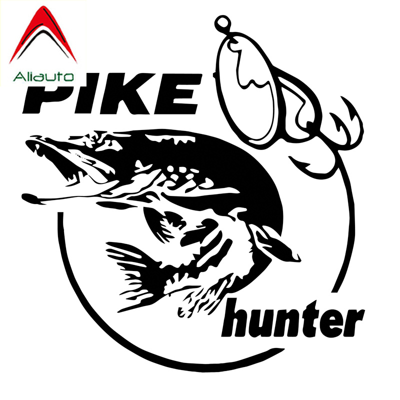 Aliauto Creative Car Sticker Pike Hunter Fish Animal Vinyl Decor Accessories PVC Decal For Renault Megane 3 Lacetti,14cm*13cm