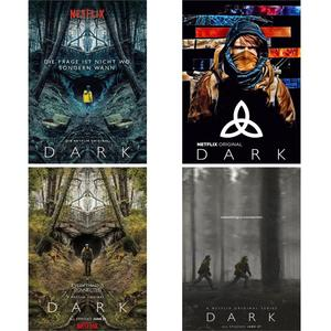 Dark Posters TV Shows Wall Stickers Home Decoration Vivid Color