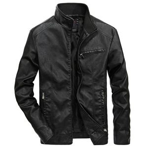 Image 1 - איכות טובה מותג אופנוע עור מעילי גברים 2020 חם טלאי צבאי מעיל בייסבול צווארון טייס עור מעיל מעילים