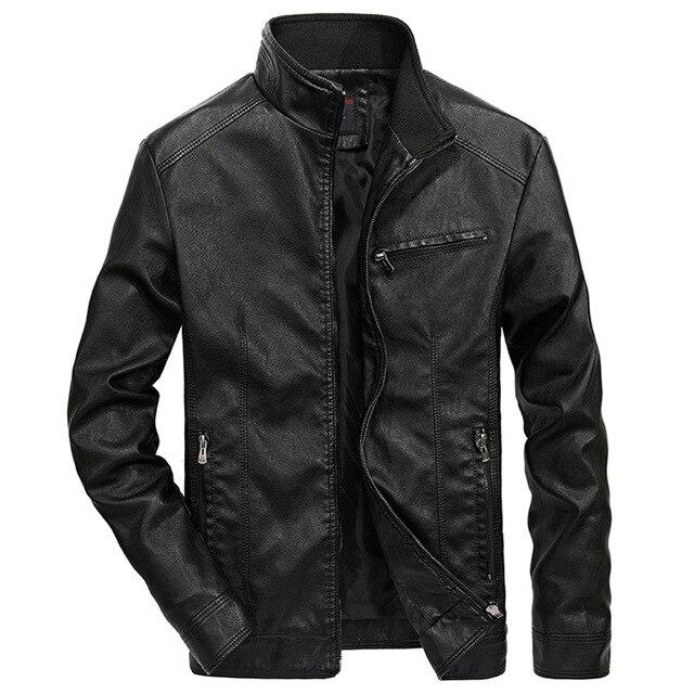 איכות טובה מותג אופנוע עור מעילי גברים 2020 חם טלאי צבאי מעיל בייסבול צווארון טייס עור מעיל מעילים