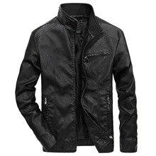 Gute Qualität Marke Motorrad Leder Jacken Männer 2020 Warme Patchwork Military Jacke Baseball Kragen Pilot Leder Jacke Mäntel