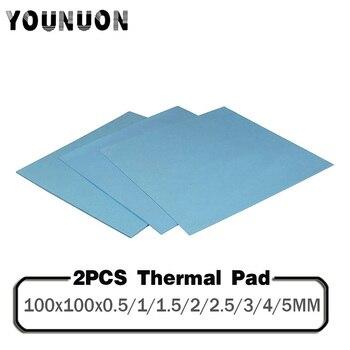 2PCS 100x100mm Thermal Pad GPU CPU Heatsink Cooling Conductive Silicone Pad 0.5/1/1.5/2/2.5/3/4/5mm Thickness Thermal Pad gpu cpu heatsink cooling thermal conductive silicone pad 100mmx100mmx0 5mm