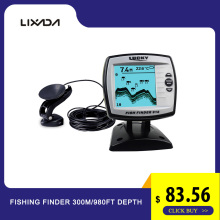 LUCKY 125KHz Sonar Frequency Fishing Finder 300m/980ft Depth Fish  Echo Sounders Boat Fishfinders FF918-WLS