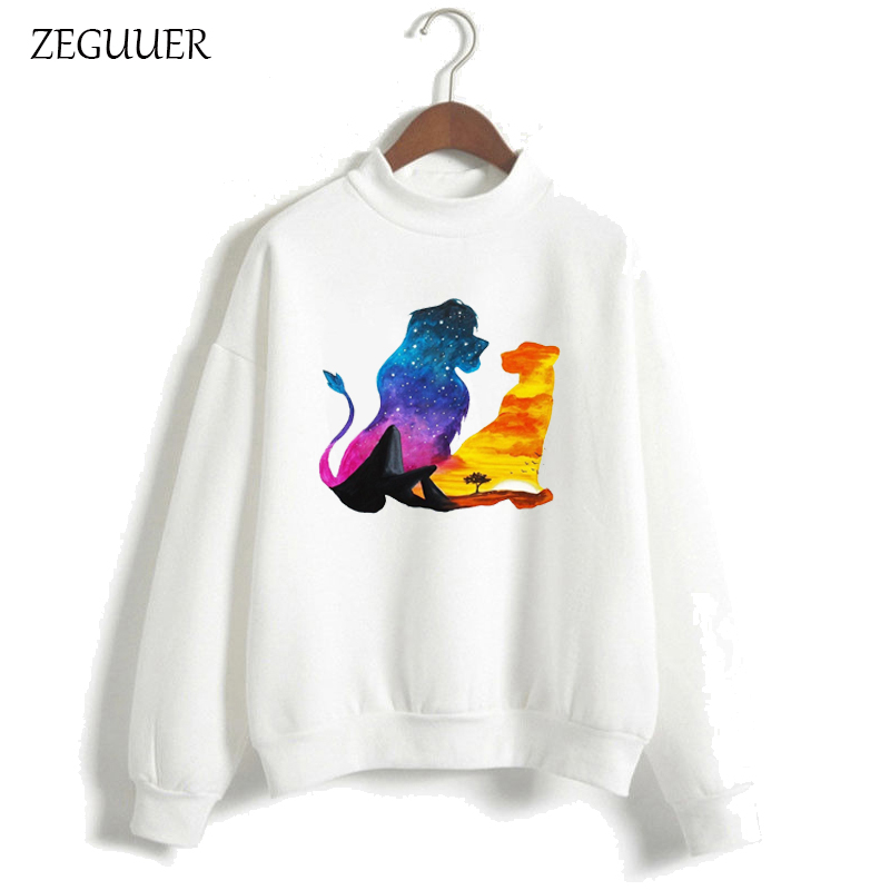 The Lion King HAKUNA MATATA Pink Hoodies Women Harajuku Kawaii Print Hoodies Sweatshirt Clothes Streetwear Hipster Women Hoodies