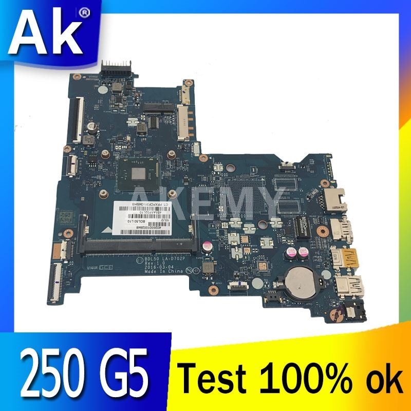 Akemy For HP 250 G5 Laptop Motherboard with Processor onboard BDL50 LA-D702P 854944-601 854944-001 Main Board