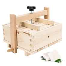 2-in-1 Wooden Tofu Cheese Maker & Press with 3PCS Cloth Durable asy to Assemble for Home Tofu DIY