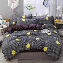 Gruszka owocowy wzór 4 sztuk jednolity kolor dla dzieci zestaw narzut na łóżko kołdra pokrywa dla dorosłych dziecko łóżko arkusz poszewka na poduszkę komfortowa pościel zestaw 45 tanie tanio COTTON Arkusz Zestawy Kołdrę poszewka CN (pochodzenie) Poliester Bawełna 1 2 m (4 stóp) 1 5 m (5 stóp) 1 8 m (6 stóp)