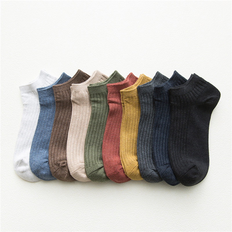 Original Solid Short Socks Men Japanese Style Comfortable Breathable Man Socks Cotton High Quality Sweat Absorption Weekly Sox