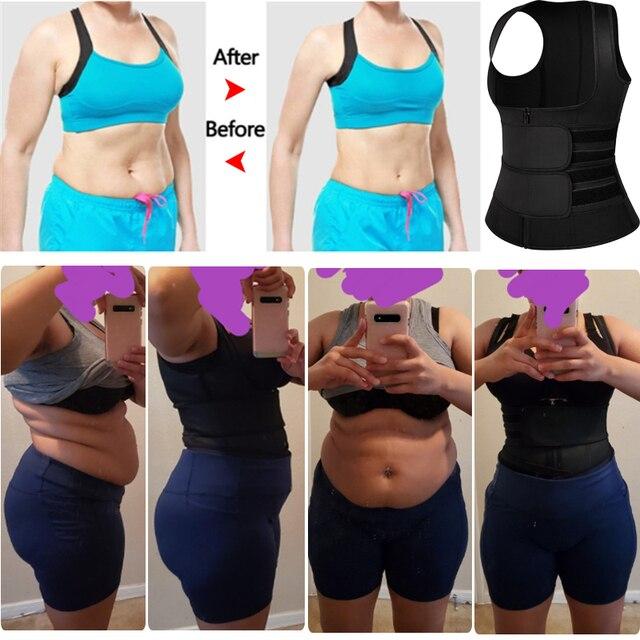Women Waist Trainer Corset Trimmer Belt Body Shaper Slimming with Zipper Sauna Sweat Belly Waist Cincher for Weight Loss 5