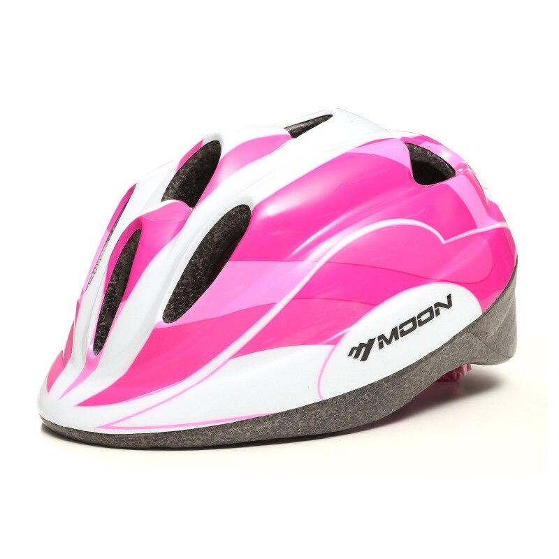 Moon CHILDREN'S Helmet Riding Helmet Mountain Bike Helmet Breathable Cushioning Riding Helmet Riding Protective Clothing|Bicycle Helmet| |  - title=