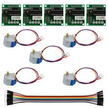 1 set 5V Stepper Motor With ULN2003 Driver Board Dupont Cable For Arduino Reduction Step Motor Gear Stepper Motor 4 Phase(China)