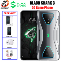 Global Version 5G Game Phone Xiaomi Black Shark 3 Mobile Phone 6.67 8GB/12GB 128GB/256GB Snapdragon 865 60MP 4720mAh Android 10