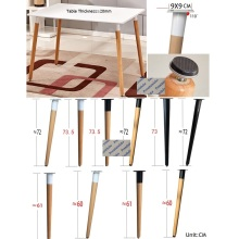Tapered Table Leg Dinning Universal-Feet Breakfast Solid-Wood 4pcs/Lot Beech Upstraight