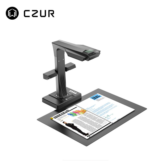 CZUR ET16 Plus  A3 Book Scanner Fast Speed , Max A3 Size Document Support OCR Function Compatible with Windows Mac for Office