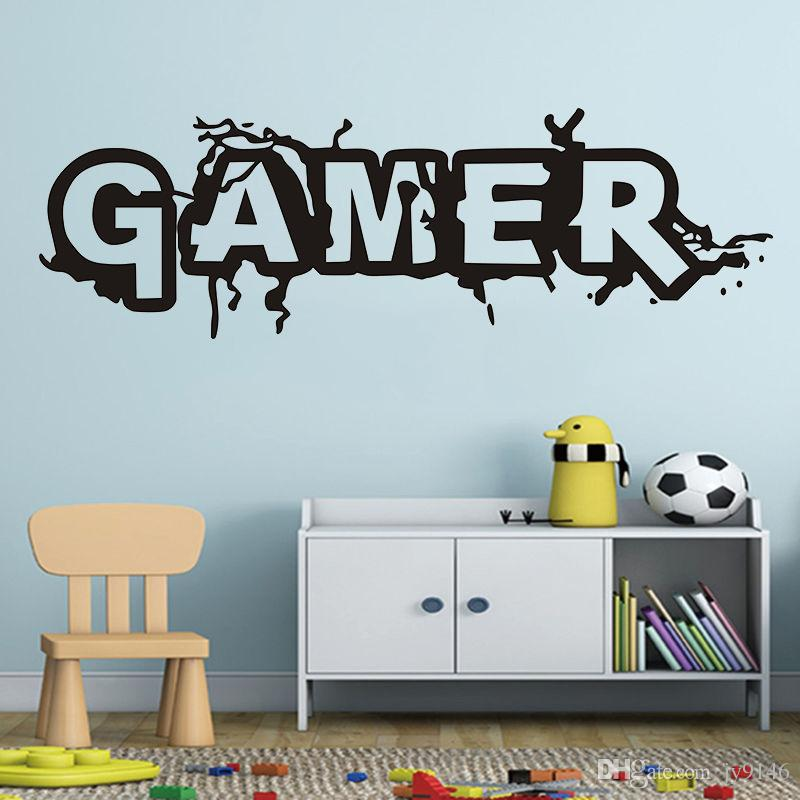 Game Room Wall Stickers Decorative Game Players Vinyl Adhesive Paper Mural Living Room Library Decoration Creative Decorative Po