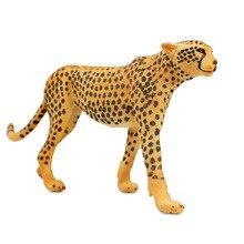 Приграничный Африканский парк животных модель диких животных модель большой Гепард Пластиковые Твердые мальчик детская игрушка украшения