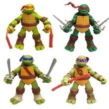 2020 novo pvc 12cm anime figuras leonardo donatello michelangelo rafael figuras de ação modelo tartarugas brinquedo