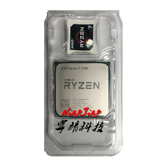 AMD Ryzen 7 2700 R7 2700 3.2 GHz Eight-Core Sinteen-Thread 16 M 65 W Processador CPU tomada YD2700BBM88AF AM4 1