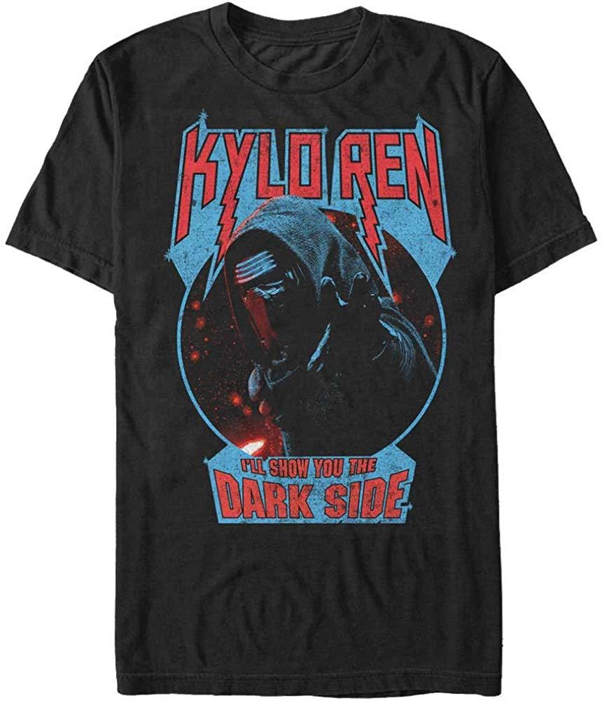 Star Wars The Force Awakens Men's Kylo Ren Show Dark Side T Shirt Men Women TEE Shirt New Unisex Funny