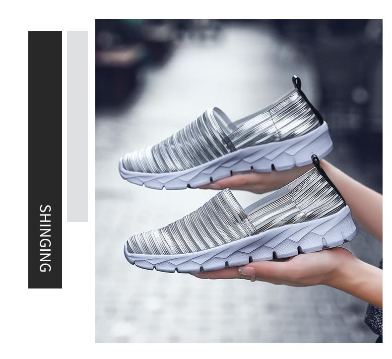 Women Flats Shoes Woman Loafers Slip-ons Platform Ballet Sneakers (1)