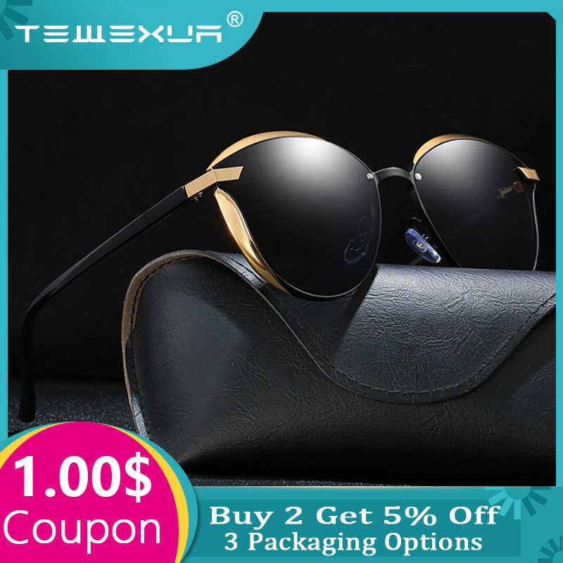 TEWEXUAผู้หญิงแว่นกันแดดแฟชั่นรอบสุภาพสตรีวินเทจRetroยี่ห้อDesignerดวงอาทิตย์แว่นตาoculos gafas