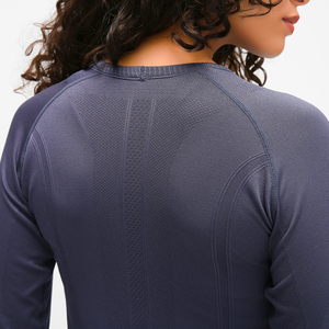 Image 3 - Nepoagym oceano mulher yoga sem costura superior super macio manga longa camisa elástico workout topos esportes wear para mulher ginásio