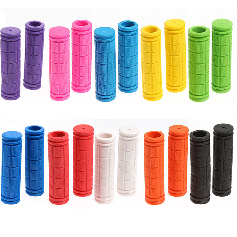 1 Pair 12cm <font><b>Bicycle</b></font> Grip Rubber Handlebar Mountain Bike Handle High Quality Non-Slip Handlebar <font><b>Bicycle</b></font> <font><b>Parts</b></font> <font><b>Bicycle</b></font> Equipment image