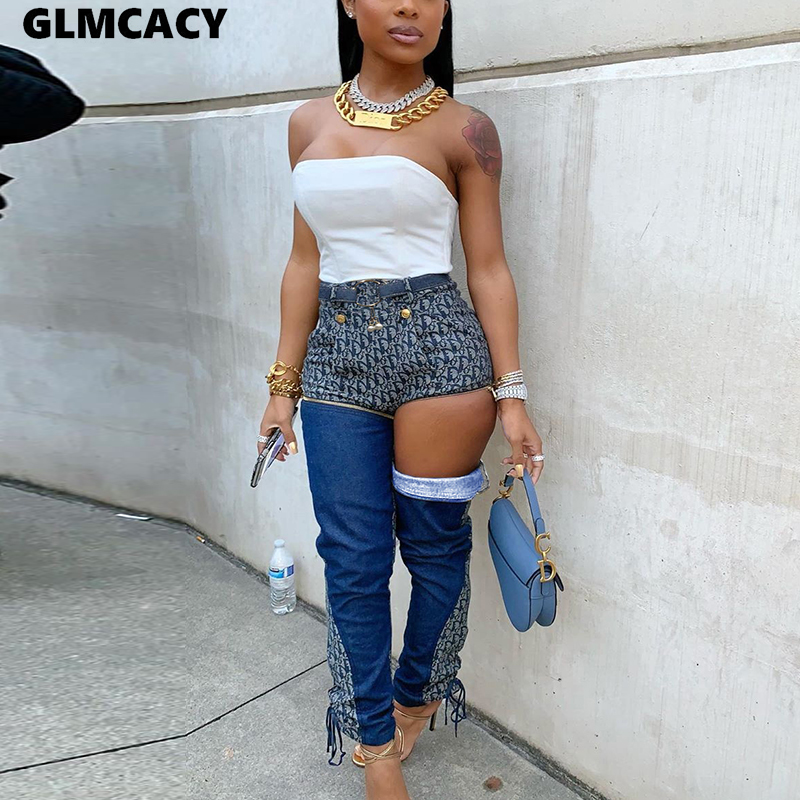 Women High Waist Jeans Denim Pants Jeans Female Jeans Long Pants Blue Patchwork Pants Skinny Jeans