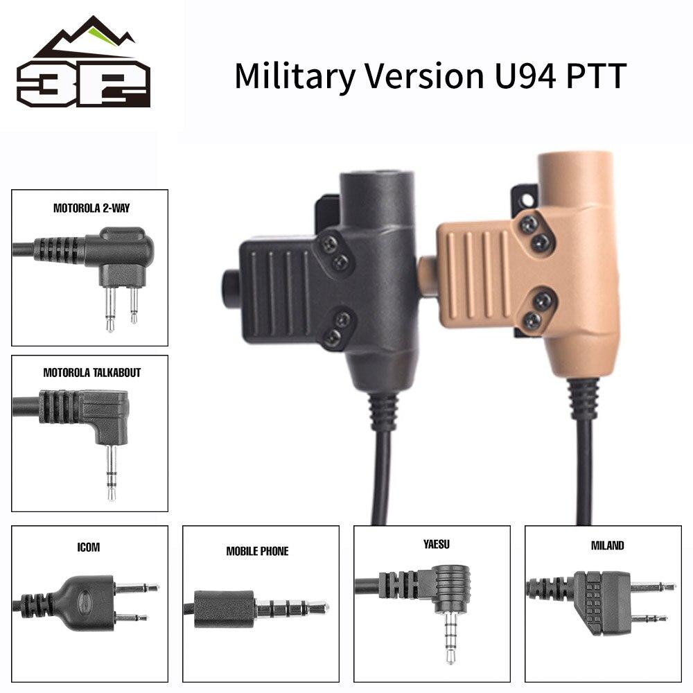 Fone de Ouvido Plugue do Fone de Ouvido Ajuste da Nato Ptt para Rac Nova Tático Comtac 7 Tipos Plugue do Ptt Airsoft Caça Militar Acessórios U94 Tmc