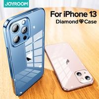 Joyroom-funda de cristal 9H para iPhone 13, 11pro Max, cristal + TPU, a prueba de golpes, funda protectora para iPhone 12 pro Max, funda transparente