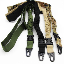 Tactical Hunting Airsoft Single One Point Gun Rifle Sling Paintball Military Adjustable Gun Strap Bungee Cord System Black Tan tactical hunting gun sling adjustable 1 single point bungee rifle sling strap system new 3 colors