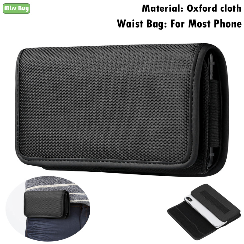 Oxford Fabric Phone Pouch For Fundas <font><b>iPhone</b></font> 5 5S SE 6 6S 7 8 Plus 11 Pro X <font><b>XR</b></font> XS Max Flip Waist Bags <font><b>Belt</b></font> Clip Shell <font><b>Case</b></font> Cover image