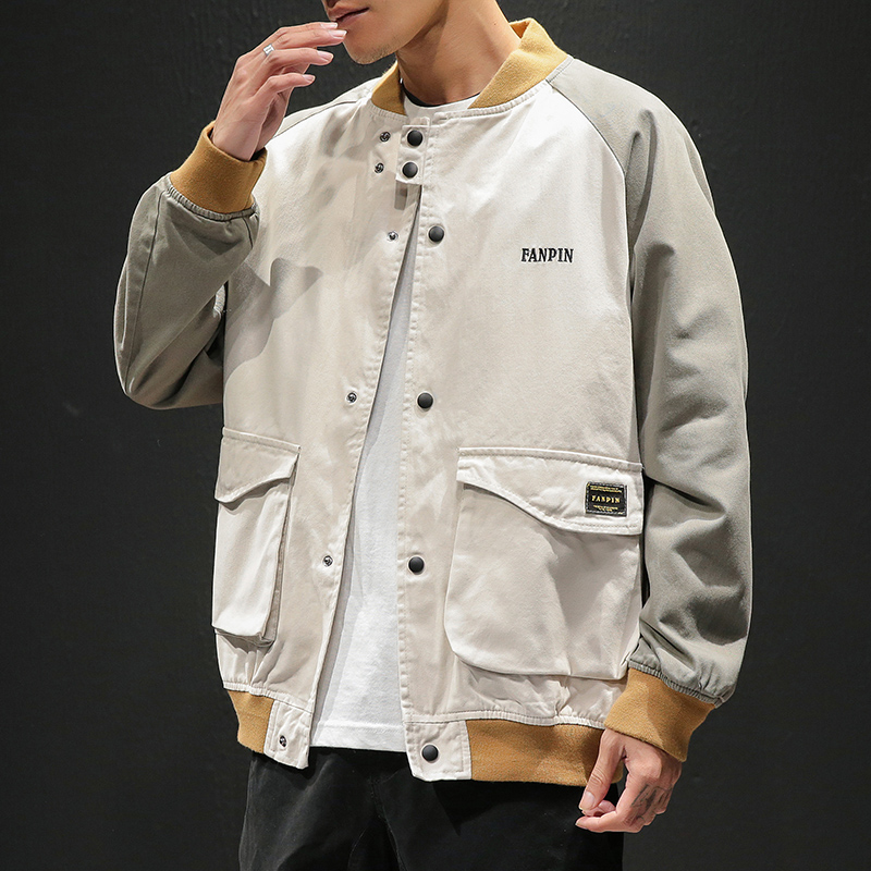 New 2020 Spring Autumn Baseball Uniform Jackets Bigger Pocket Men Classic Solid Casual Fashion Jacket Plus Asian Size M-5XL
