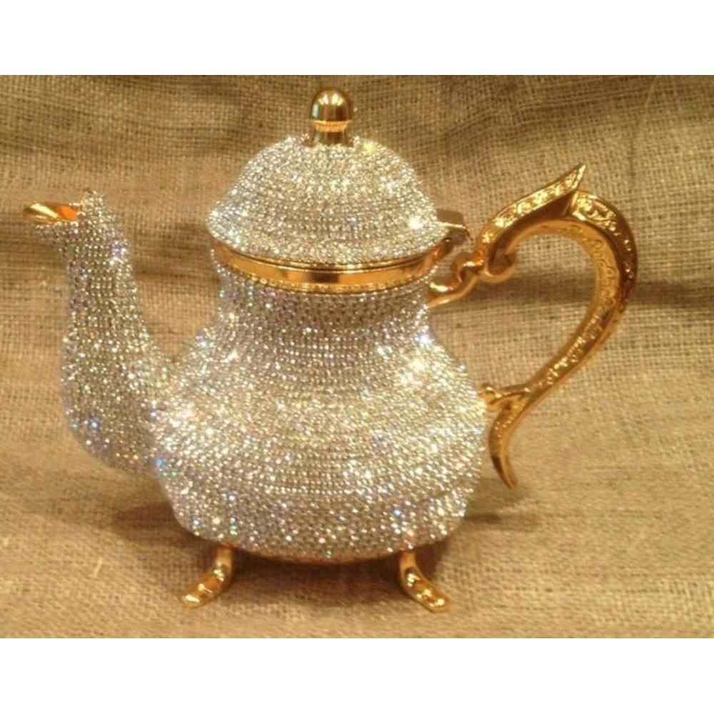 Di cristallo Turco Teiere Arabo Tea Pot -1500 ml-Fatto A Mano del Tè Set Tradizionale Turco per Tè e Caffè Made in Turchia casa Decorati