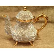 Di cristallo Turco Teiere Arabo Tea Pot -1500 ml-Fatto A Mano del Tè Set Tradizionale Turco per Tè e Caffè Made in Turchia casa Decorati()