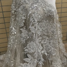 Lace-Fabric Beaded French-Net Bridal-Dress Wholesale African with JIANXI.C-628817
