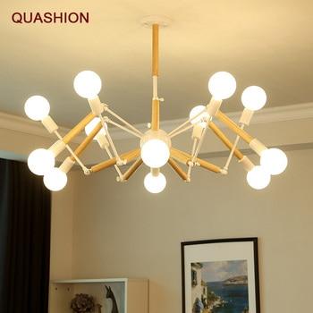 Modern LED retro chandelier kitchen restaurant chandelier spider gloss fixed lamp living room lighting E27LED