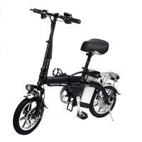 14 Inch Lithium Battery 2 Wheel 350w Electric Bike Folding Booster Bicycle Electric Bicycle Cycle Foldable Aluminum 40km/h